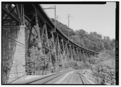 """The Safe Harbor Trestle built in 1905 for the A&S Branch, also known as the """"Low-Grade Branch,"""" of the Pennsylvania Railroad."""
