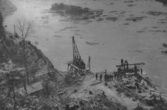 Safe Harbor bridge work. David H. Mellinger Collection, courtesy of Scott E. Kriner, Conestoga, PA